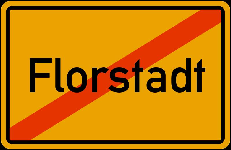 Ortsschild Florstadt