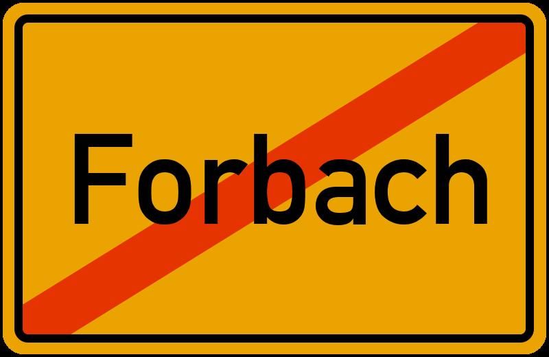 Ortsschild Forbach