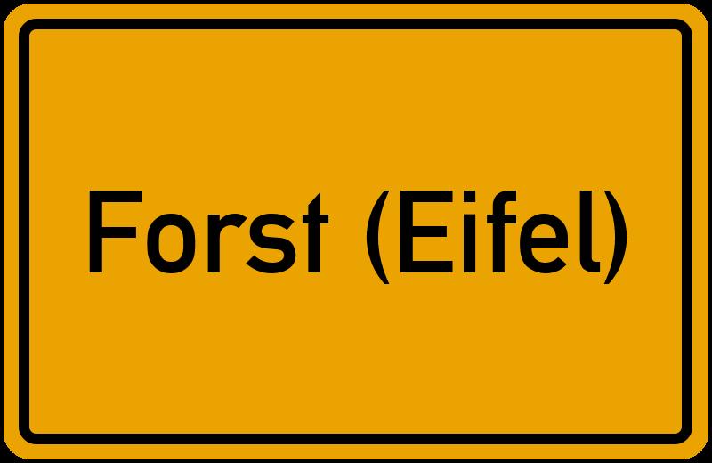 onlinestreet Branchenbuch für Forst (Eifel)