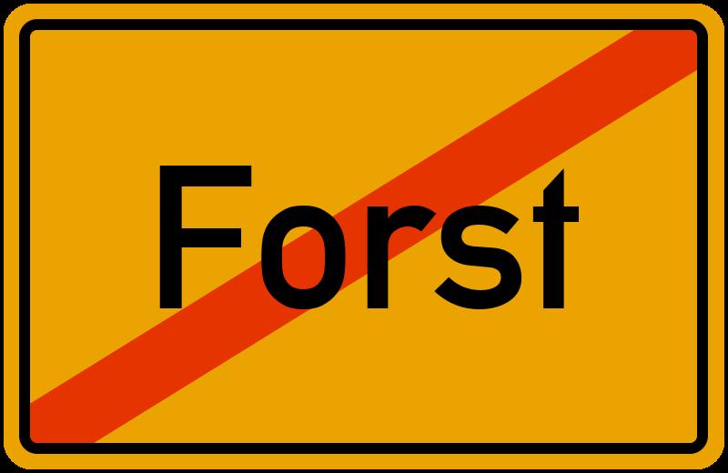 Ortsschild Forst