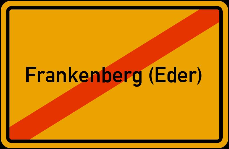 Ortsschild Frankenberg (Eder)