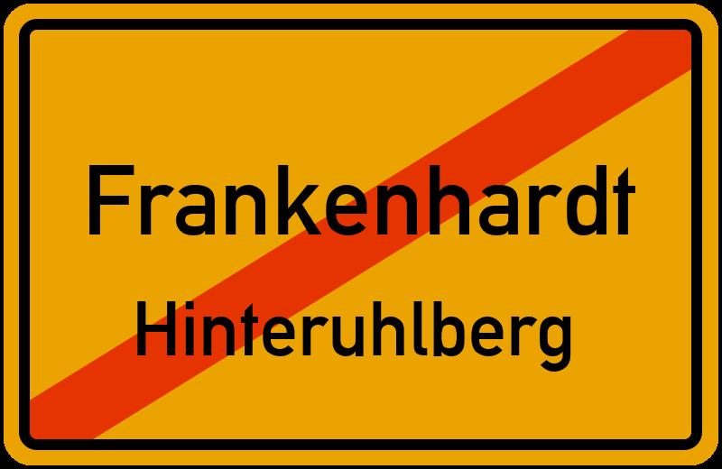 Ortsschild Frankenhardt