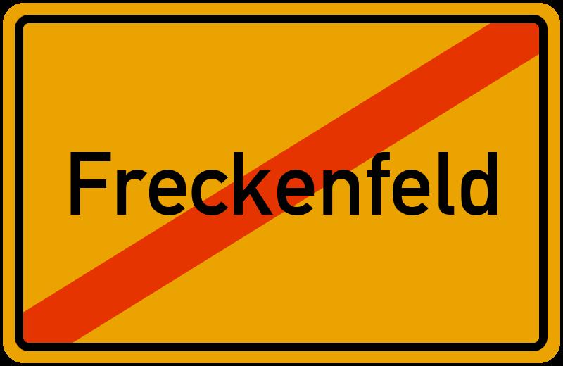 Ortsschild Freckenfeld