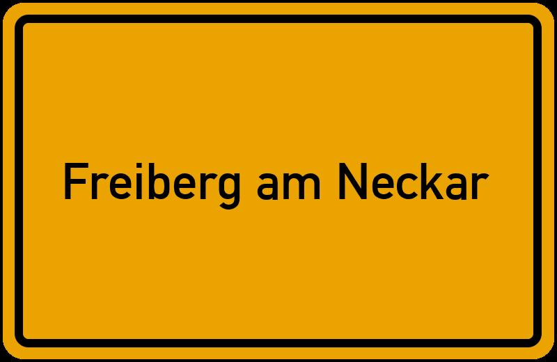Ortsschild Freiberg am Neckar