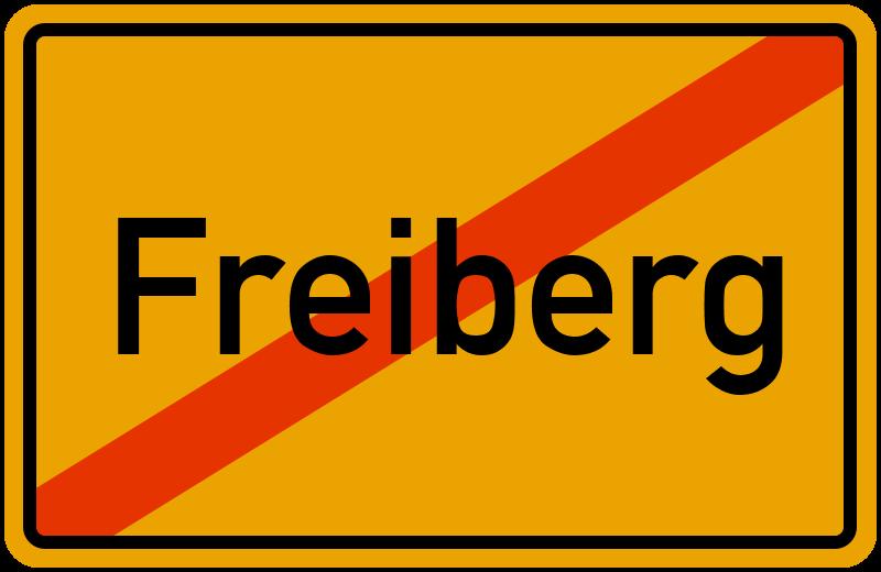 Ortsschild Freiberg