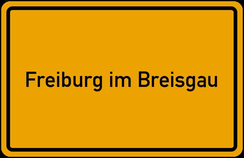 Ortsschild Freiburg Im Breisgau Kostenlos Download Drucken
