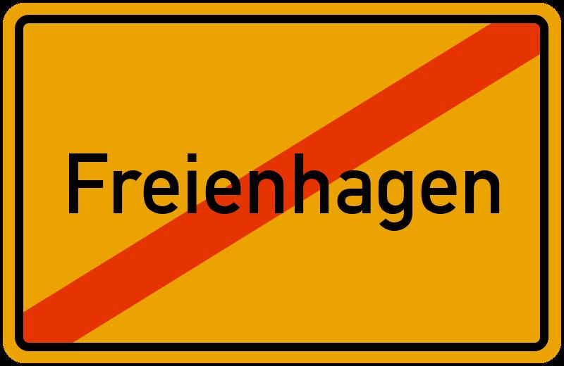 Ortsschild Freienhagen