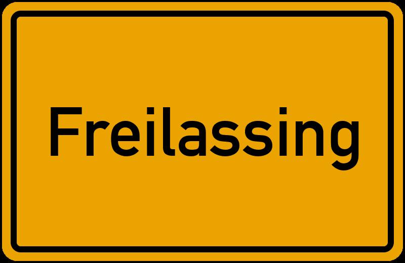 Ortsschild Freilassing