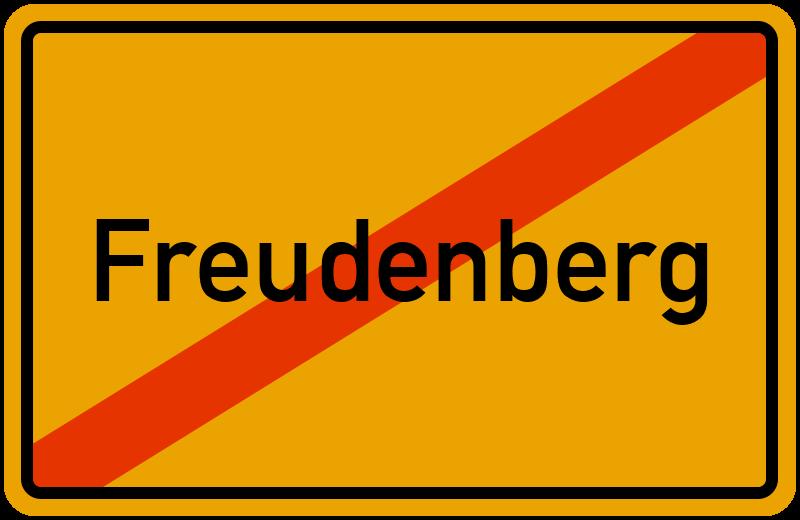 Ortsschild Freudenberg