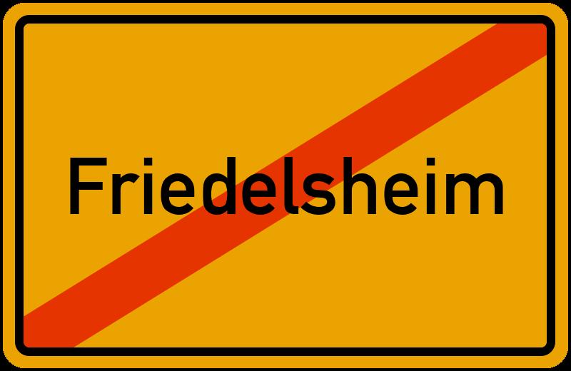 Ortsschild Friedelsheim