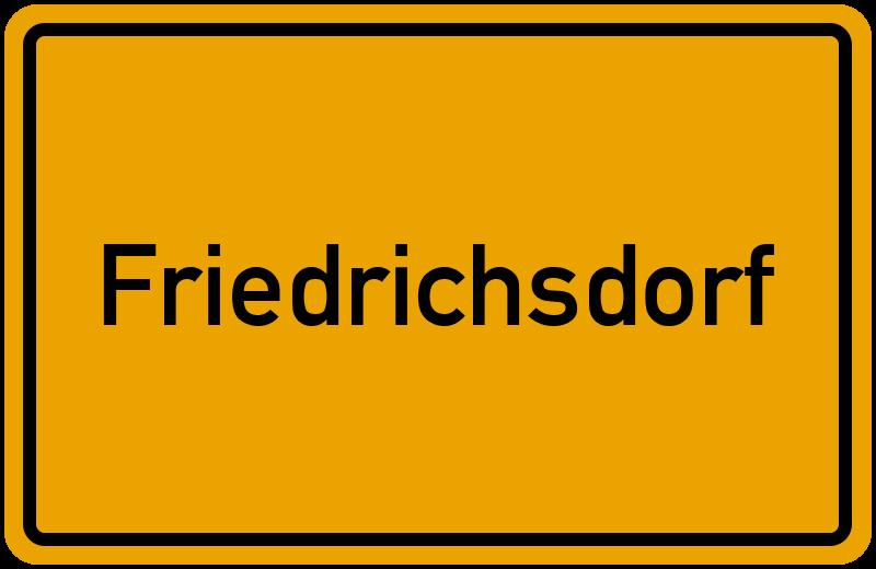 Ortsschild Friedrichsdorf