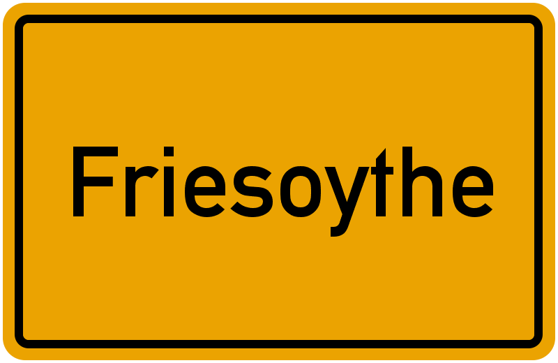 Ortsschild Friesoythe