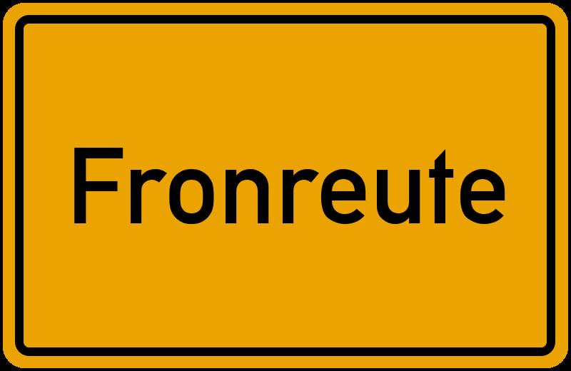 onlinestreet Branchenbuch für Fronreute