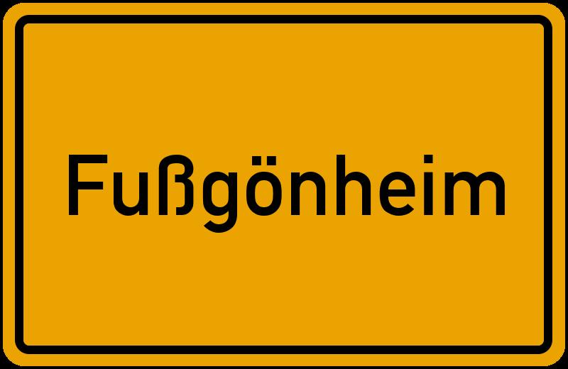 Ortsschild Fußgönheim