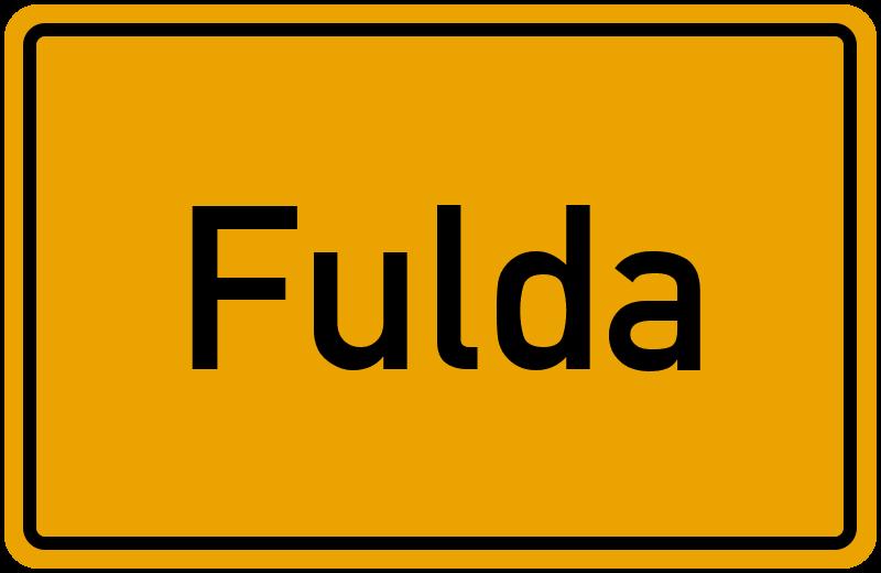Ortsschild Fulda