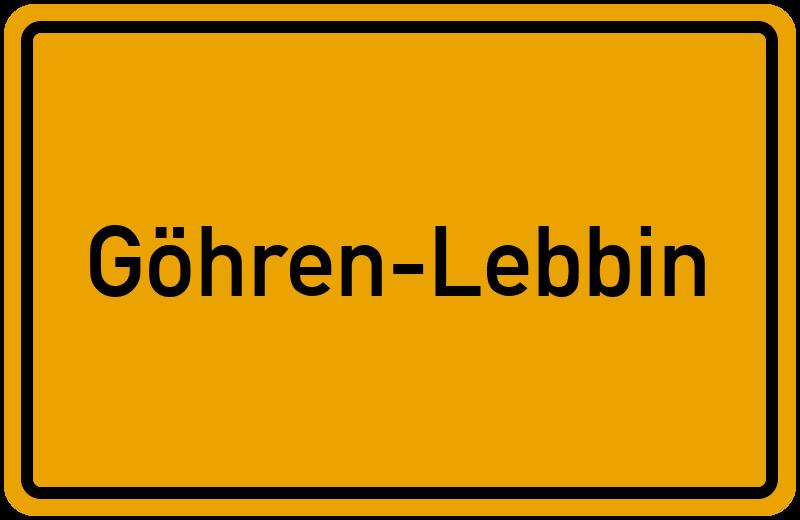 onlinestreet Branchenbuch für Göhren-Lebbin