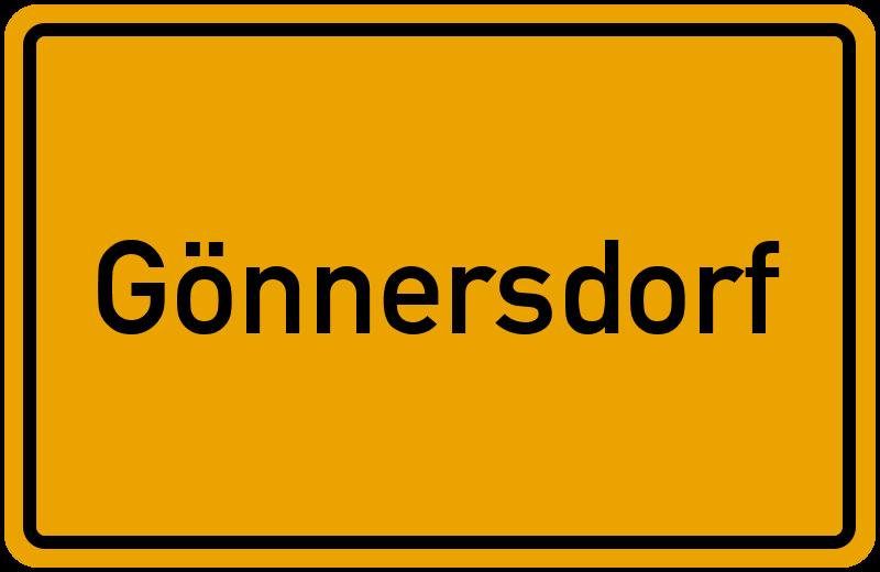 Ortsschild Gönnersdorf