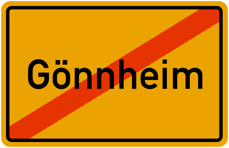 Ortsschild Gönnheim