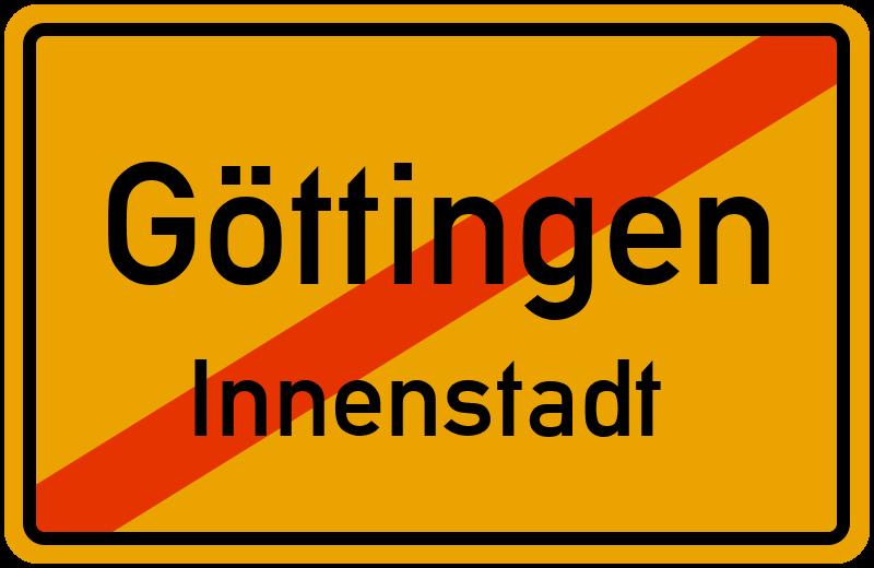 Ortsschild Göttingen