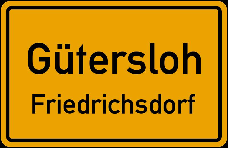 Ortsschild Gütersloh Friedrichsdorf Kostenlos Download