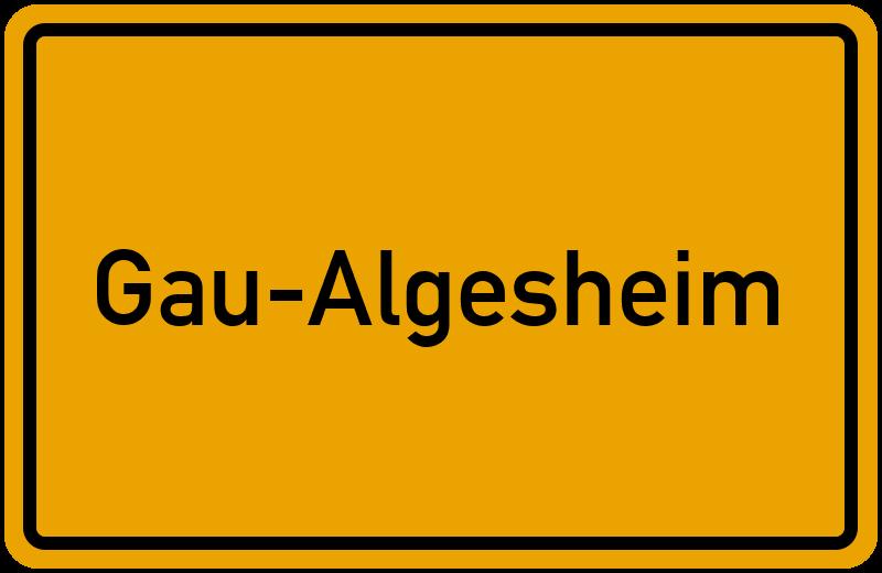 Ortsschild Gau-Algesheim