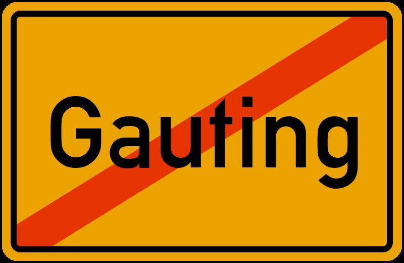 Ortsschild Gauting