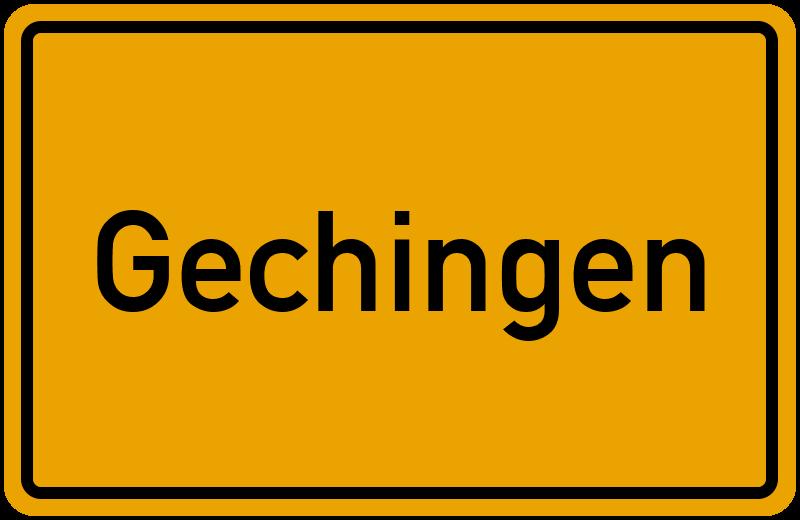 Ortsschild Gechingen