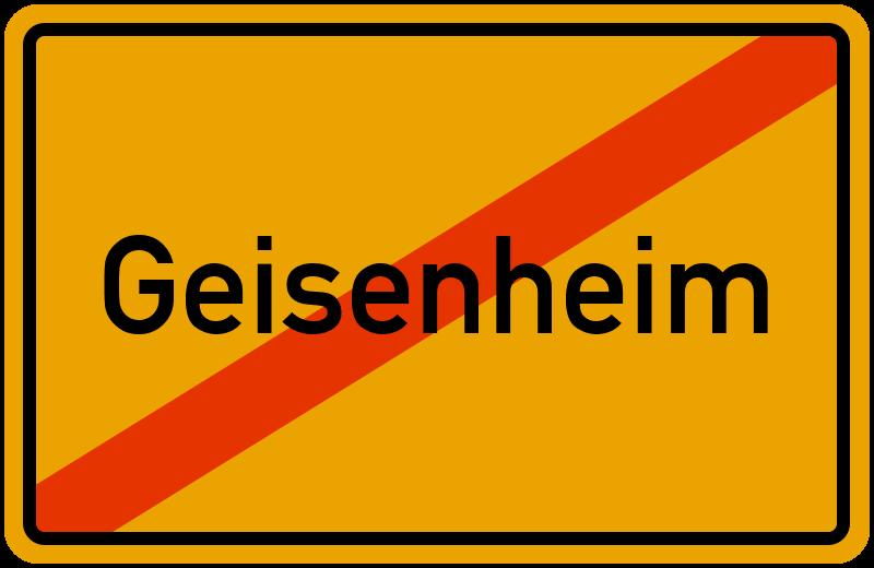 Ortsschild Geisenheim