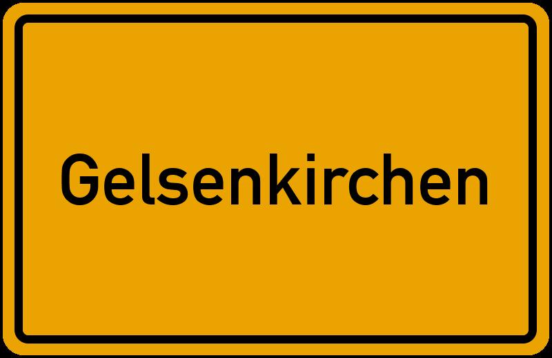 Ortsschild Gelsenkirchen