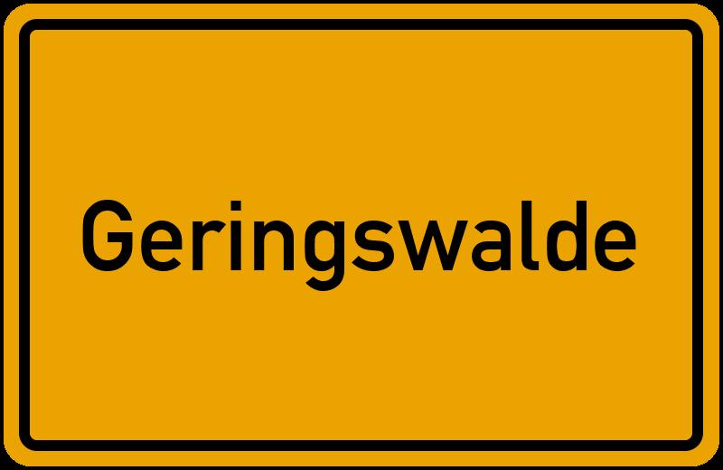 Ortsschild Geringswalde