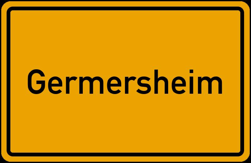 Ortsschild Germersheim