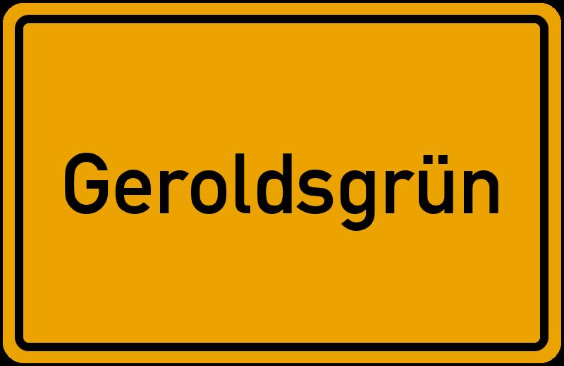 Ortsschild Geroldsgrün