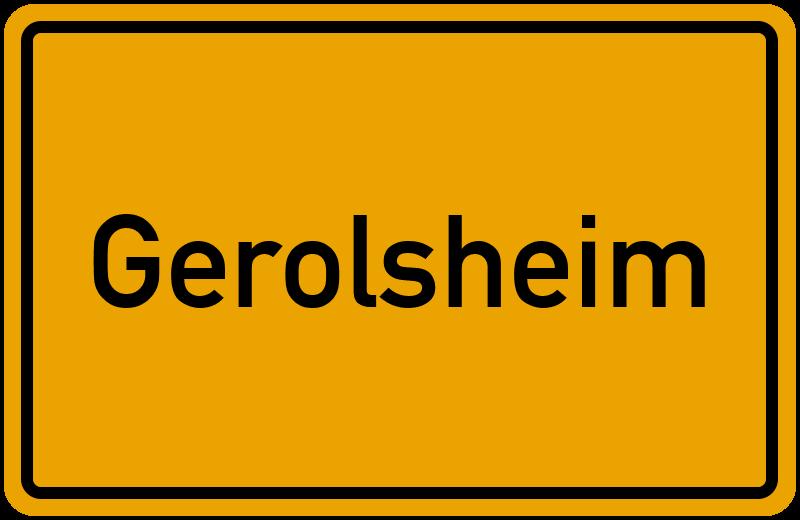 Ortsschild Gerolsheim