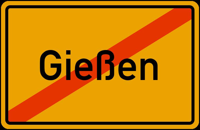 Ortsschild Gießen