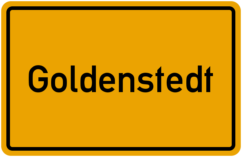 Ortsschild Goldenstedt
