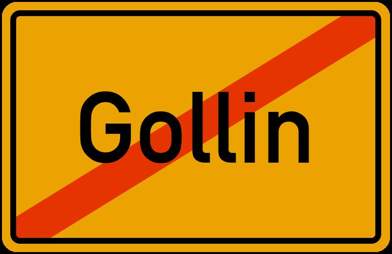 Ortsschild Gollin