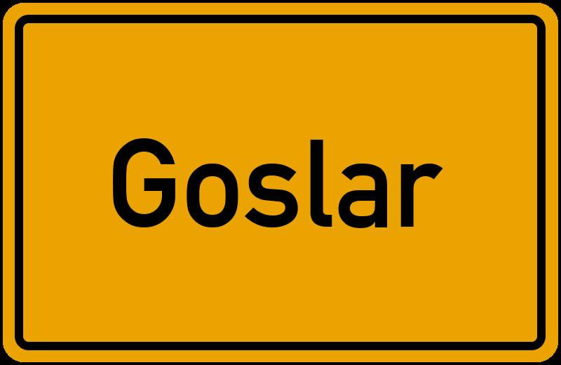 Ortsschild Goslar