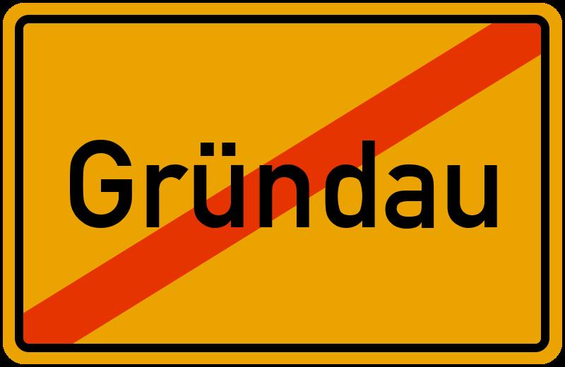 Ortsschild Gründau