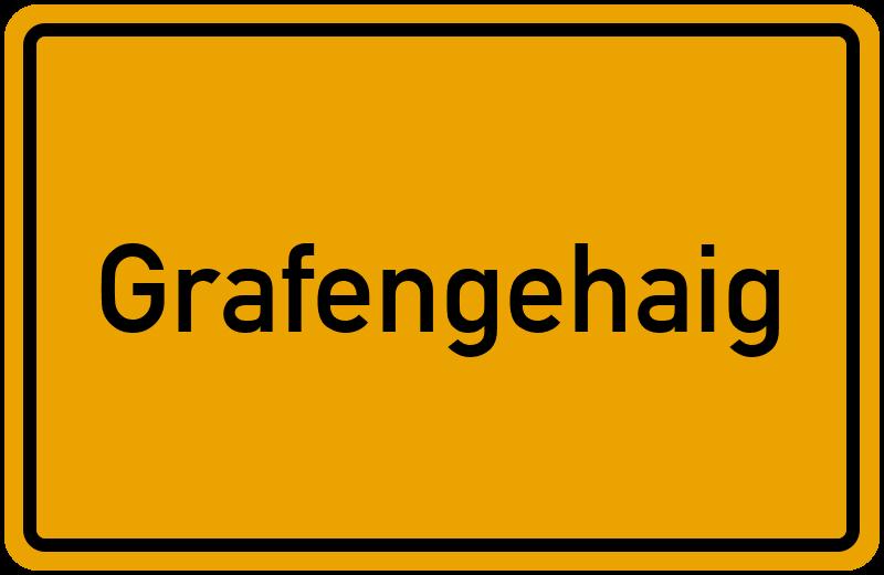 Ortsschild Grafengehaig
