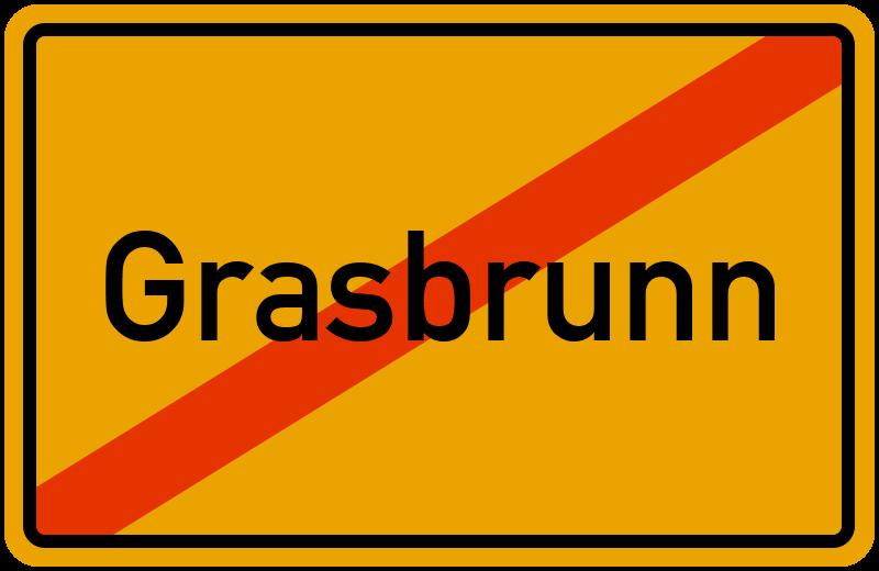 Ortsschild Grasbrunn