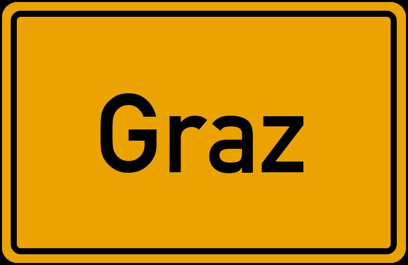 Ortsschild Graz