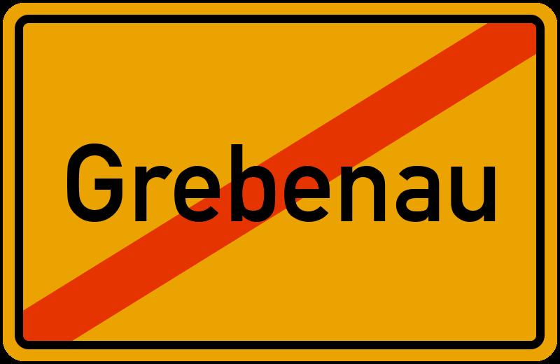 Ortsschild Grebenau