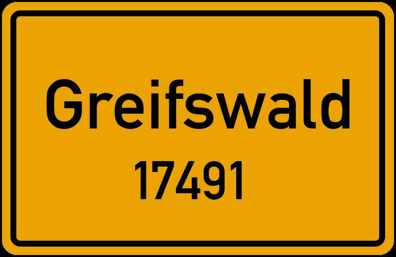 17491 Greifswald Straßenverzeichnis: Alle Straßen In 17491