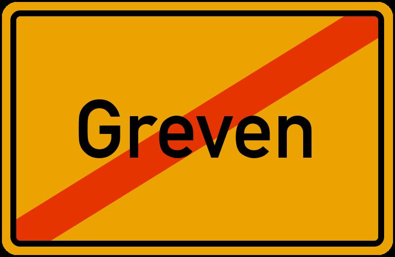 Ortsschild Greven