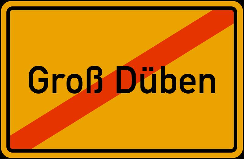 Ortsschild Groß Düben