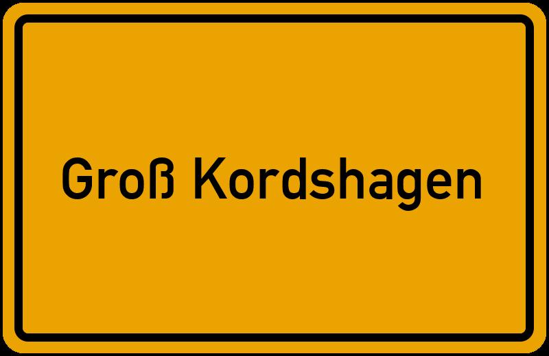 Ortsschild Groß Kordshagen