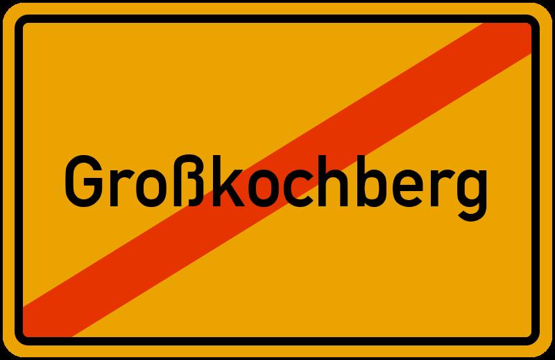 Ortsschild Großkochberg