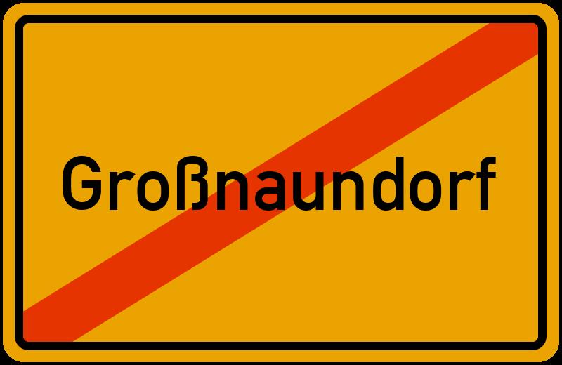 Ortsschild Großnaundorf