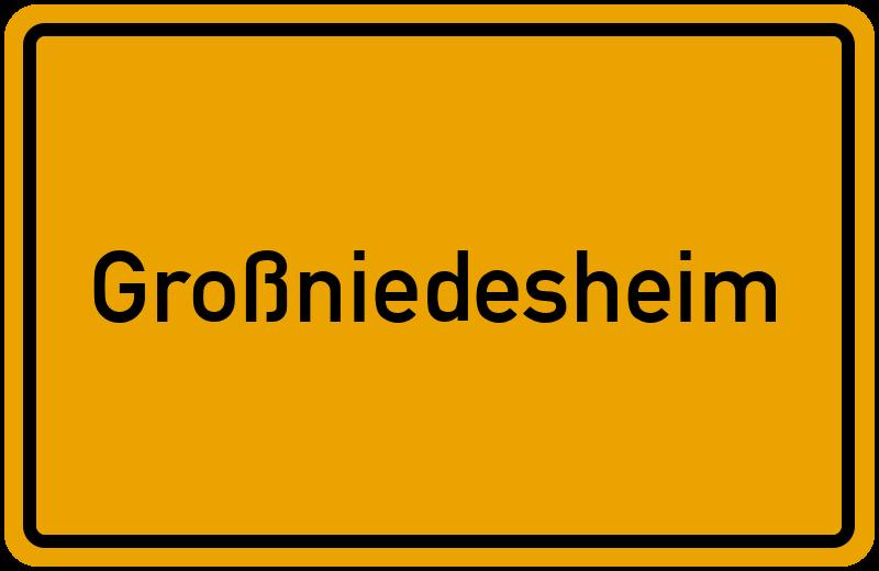 Ortsschild Großniedesheim