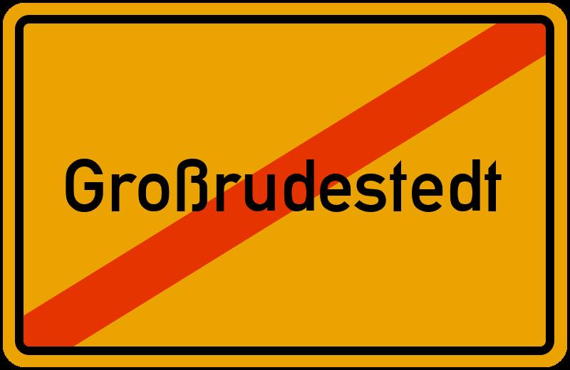 Ortsschild Großrudestedt